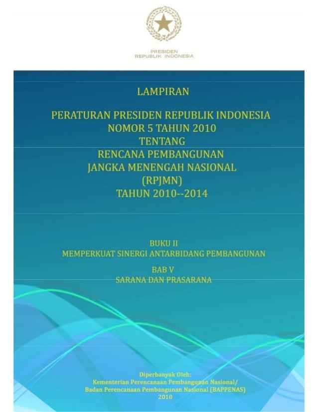 Buku ii-bab-v rpjmn tahun 2010-2014