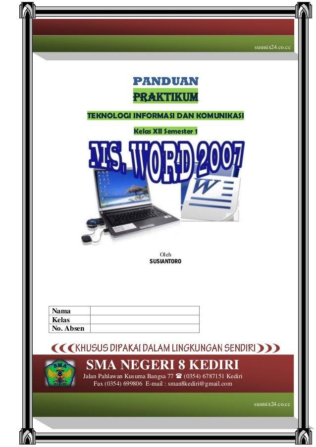 Panduan Praktikum Ms. Word 2007 2011                                                                                      ...