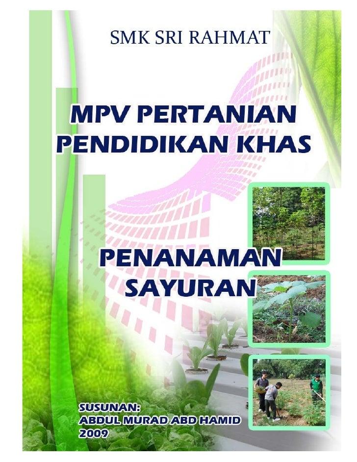 Buku Pertanian Pendidikan Khas Tulisan Abdul Murad Abd Hamid Smk Sri Rahmat Johor Bahru Malaysia