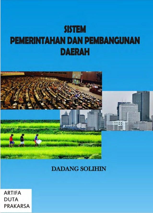 SSiisstteemm PPeemmeerriinnttaahhaann ddaann PPeemmbbaanngguunnaann DDaaeerraahh Dadang Solihin Jakarta 2008