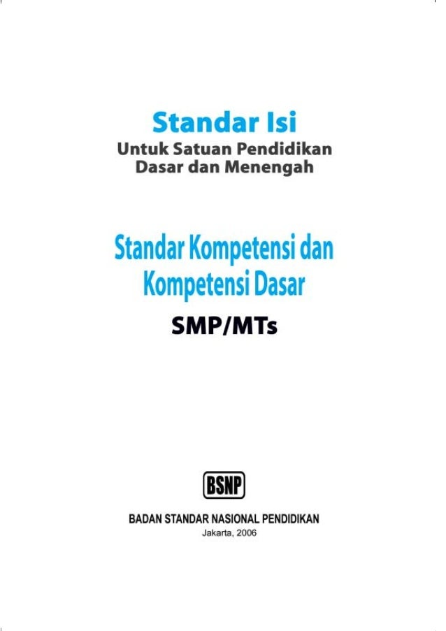 Buku standar-isi-smp