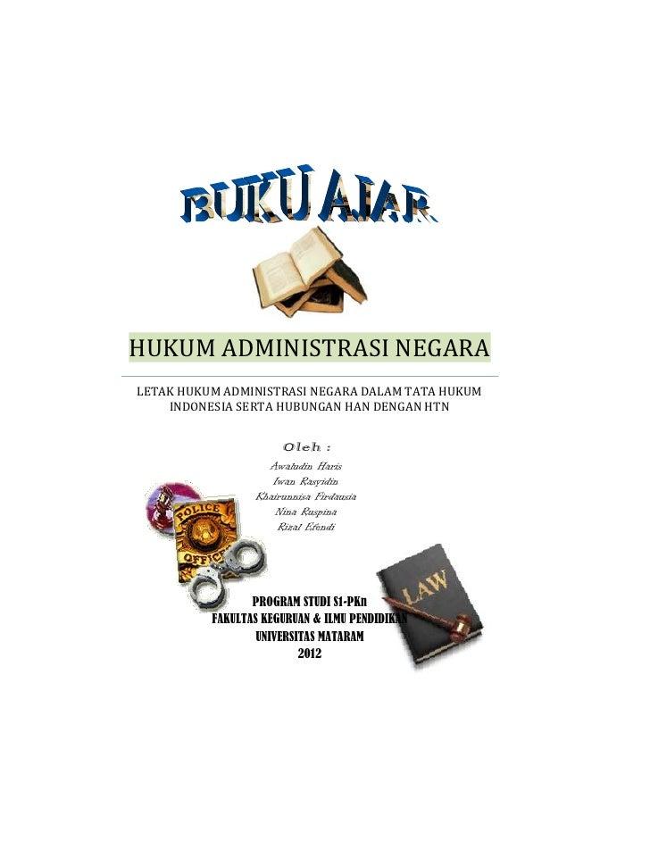 Buku ajar hukum administrasi negara
