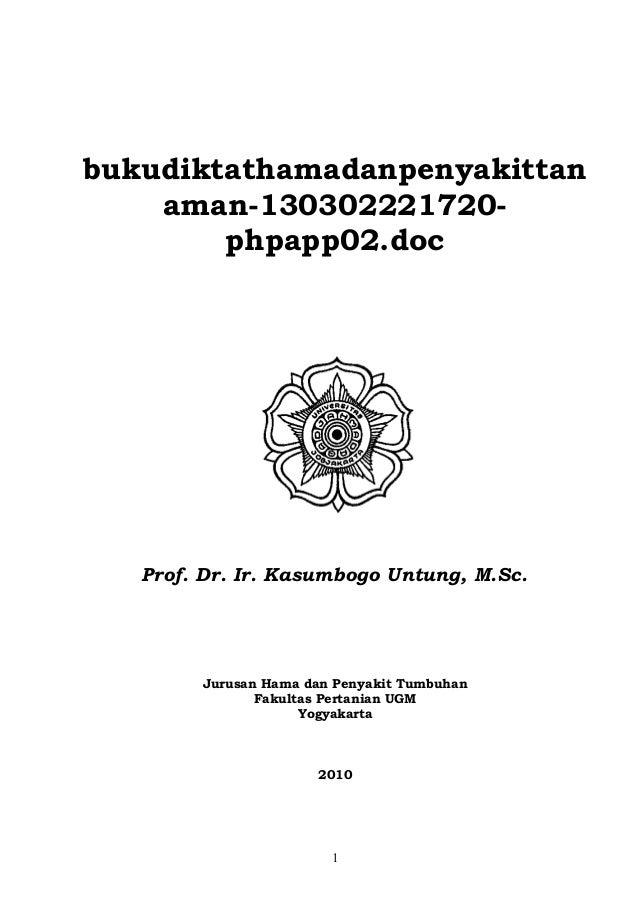 Buku diktat hama dan penyakit tanaman