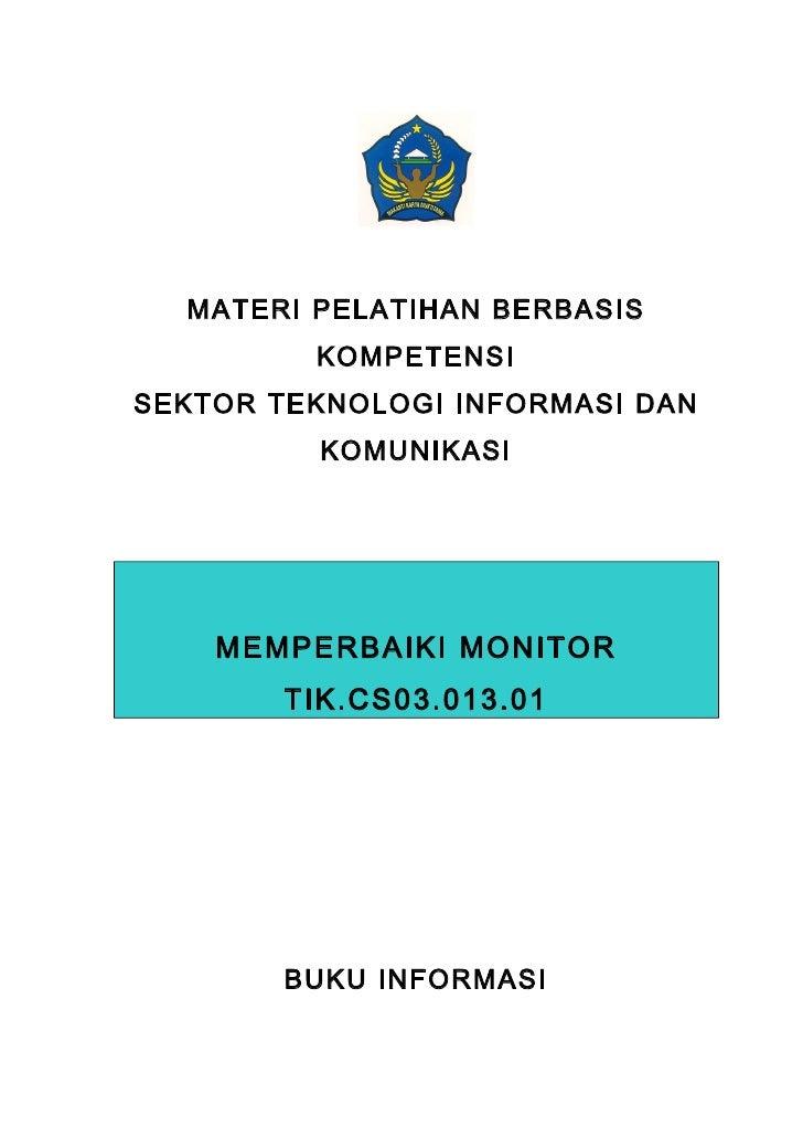 Buku informasi   memperbaiki monitor