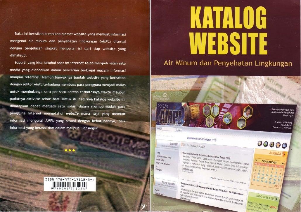 Katalog Website Air Minum dan Penyehatan Lingkungan