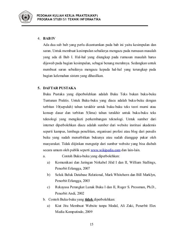 Materi Kuliah Teknik Informatika Ti Kuliah Kerja Praktek