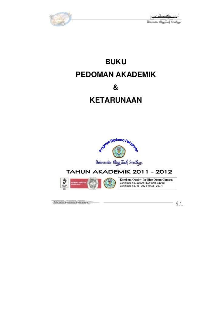 Buku pedoman akademik 2011 2012