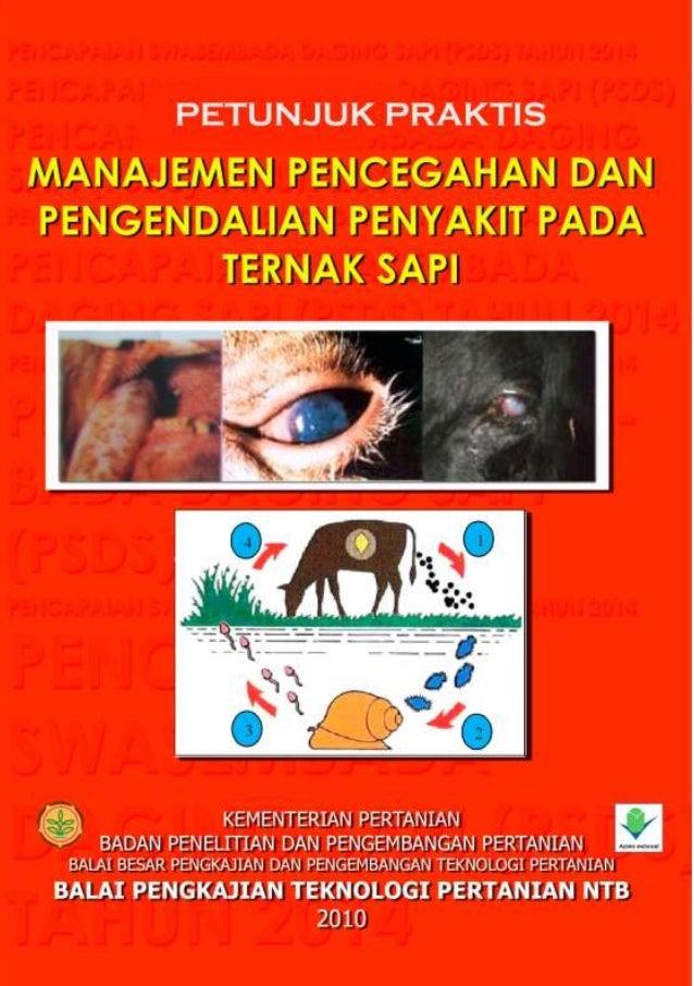 Petunjuk Praktis Manajemen Pencegahan dan Pengendalian Penyakit pada Ternak sapi i