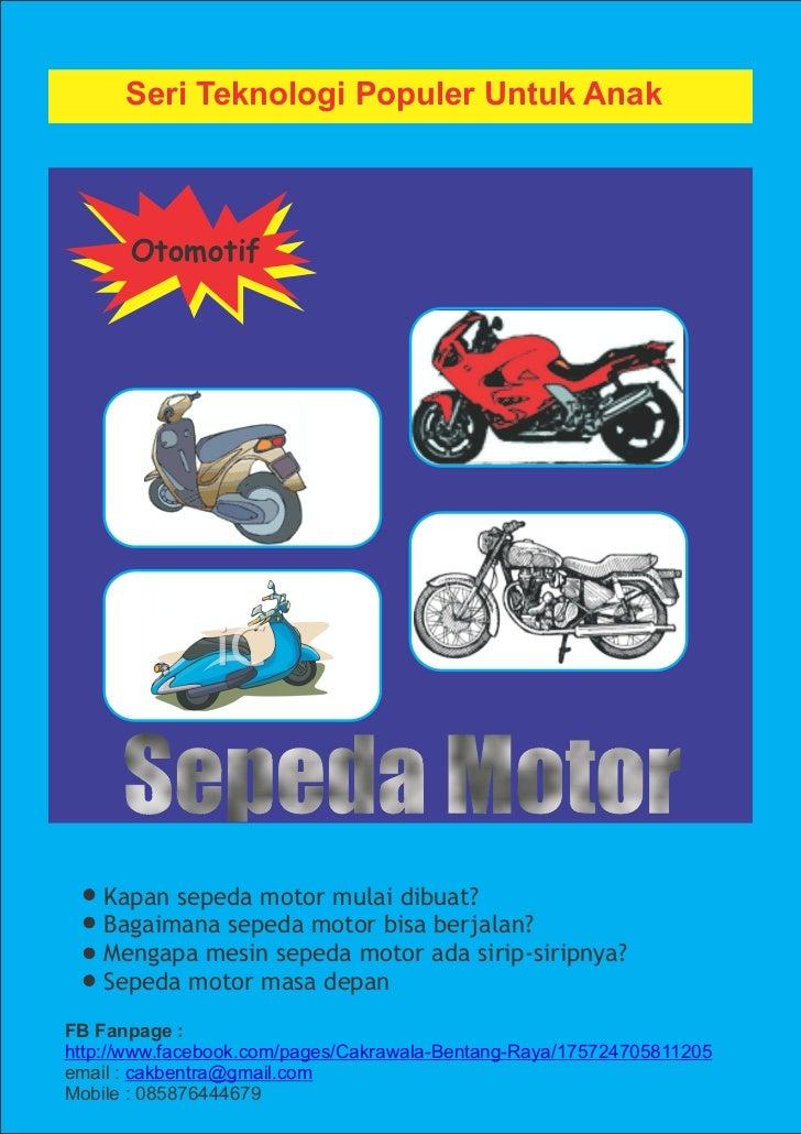 Buku teknologi populer otomotif untuk anak