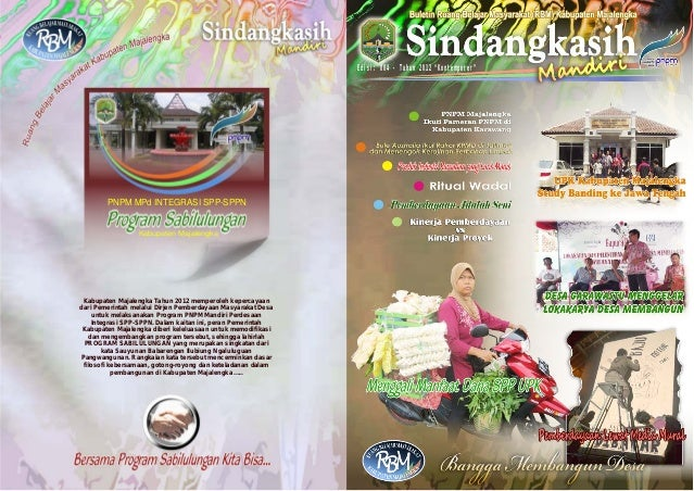 """Edisi: 004 - Tahun 2012 """"Kontemporer""""  PNPM MPd INTEGRASI SPP-SPPN  Kabupaten Majalengka  Kabupaten Majalengka Tahun 2012 ..."""