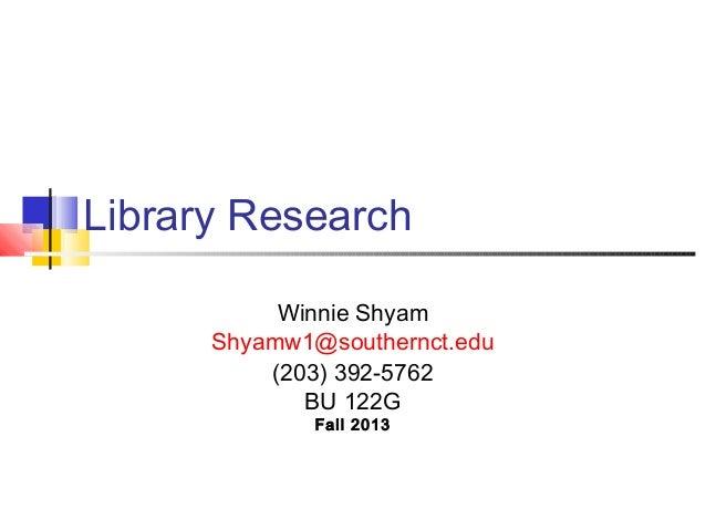 Buley Library Research Basics