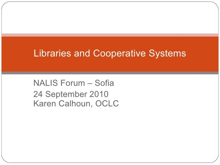 Library cooperative systems