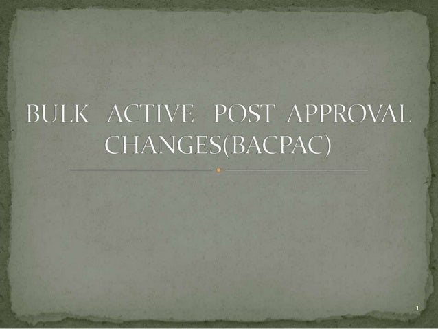 Bulk active post approval changes