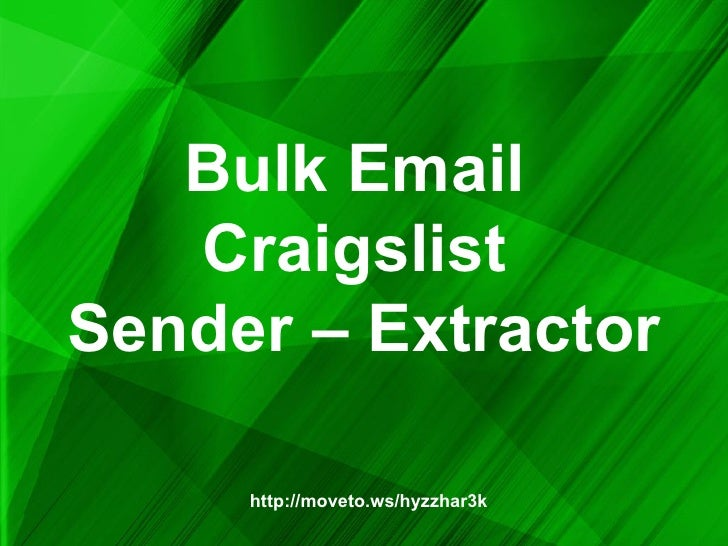 Bulk Email Craigslist Sender – Extractor