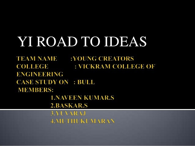YI ROAD TO IDEAS