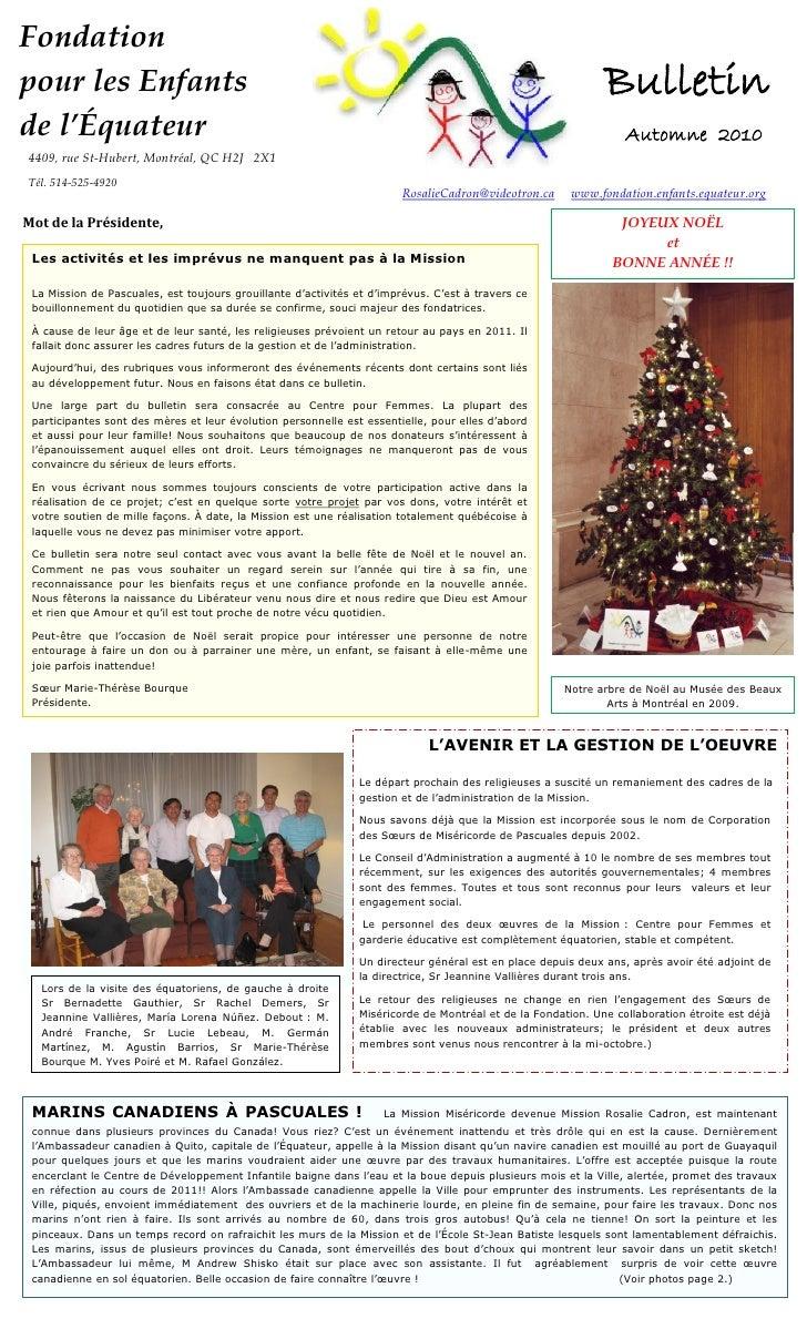 Bulletin Automne 2011-FR