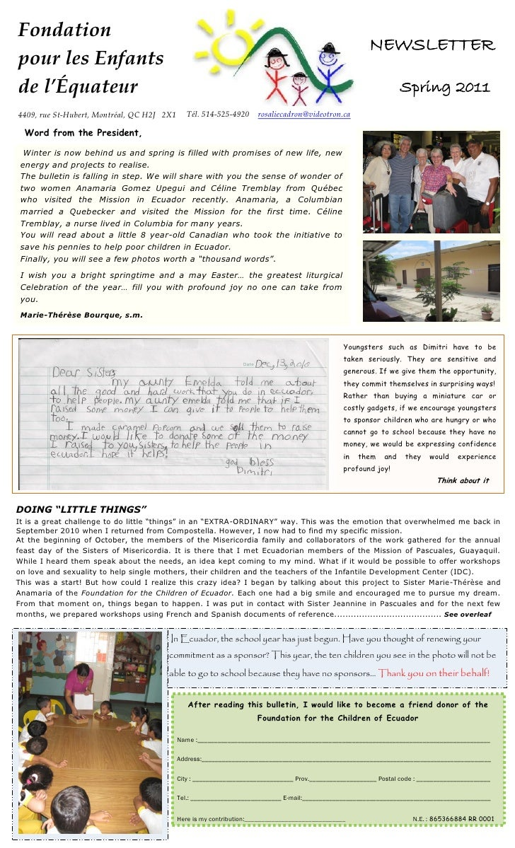 Fondation                                                                                                         NEWSLETT...