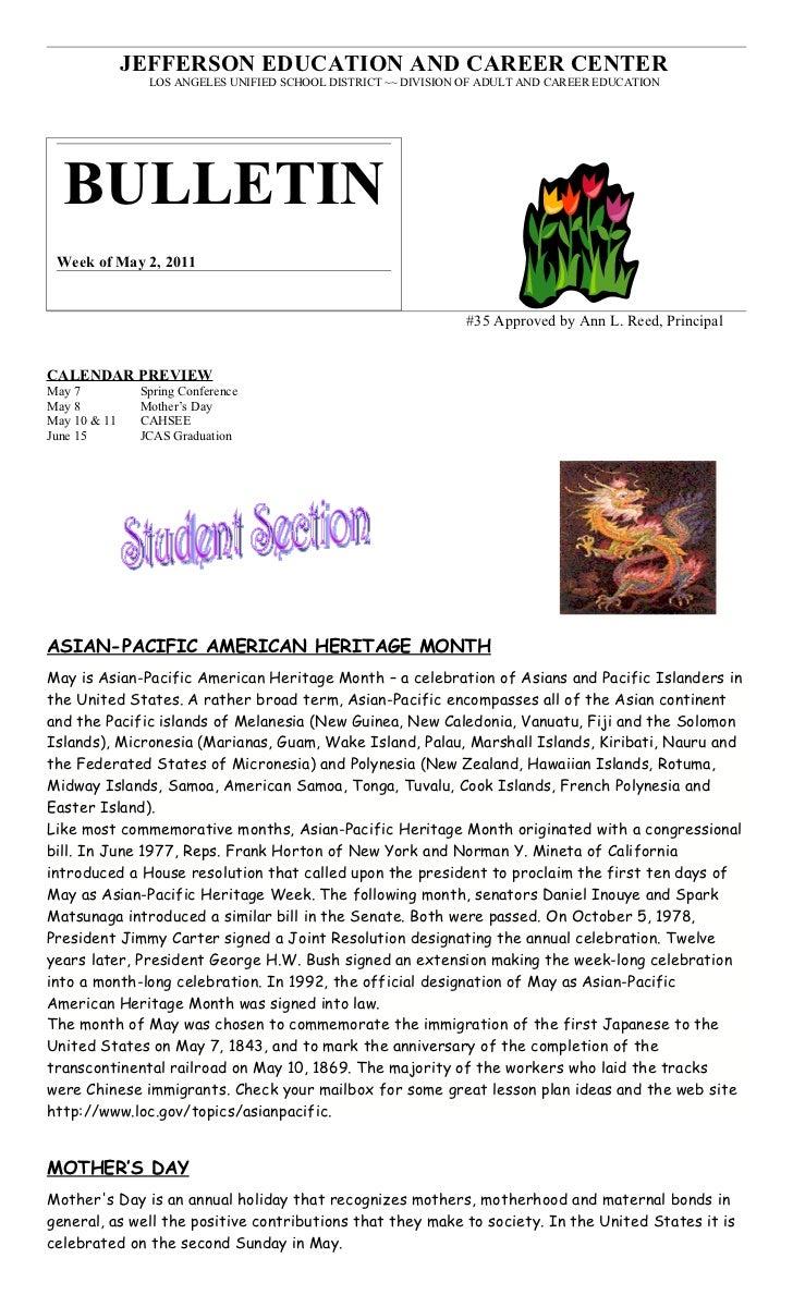 Bulletin #35 5 2-11