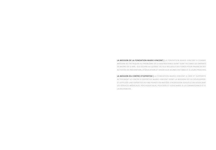 LA MISSION DE LA FONDATION MARIE-VINCENT | LA FONDATION MARIE-VINCENT A COMME MISSION DE S'ATTAQUER AU PROBLÈME DE LA MALT...