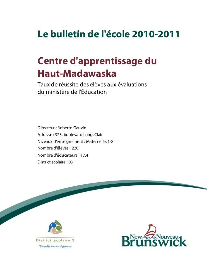 Bulletin de l'école3327