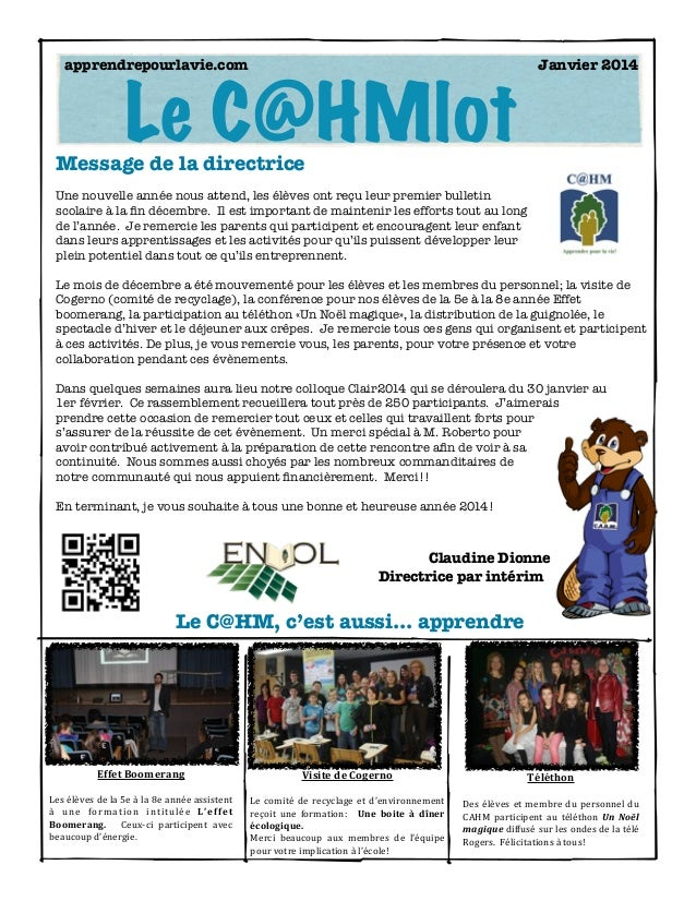 Bulletin janvier 2014