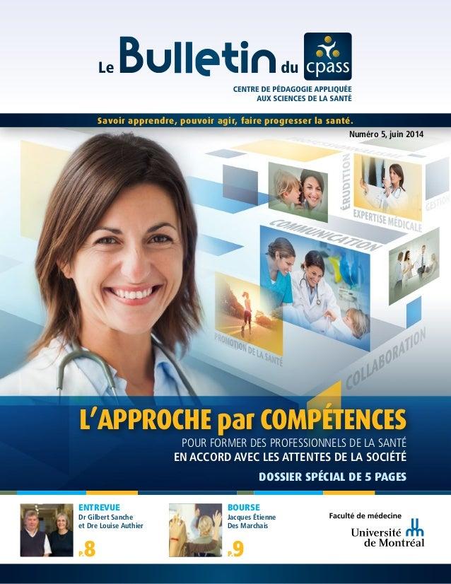 Savoir apprendre, pouvoir agir, faire progresser la santé. Numéro 5, juin 2014 pour former des professionnels de la santé ...