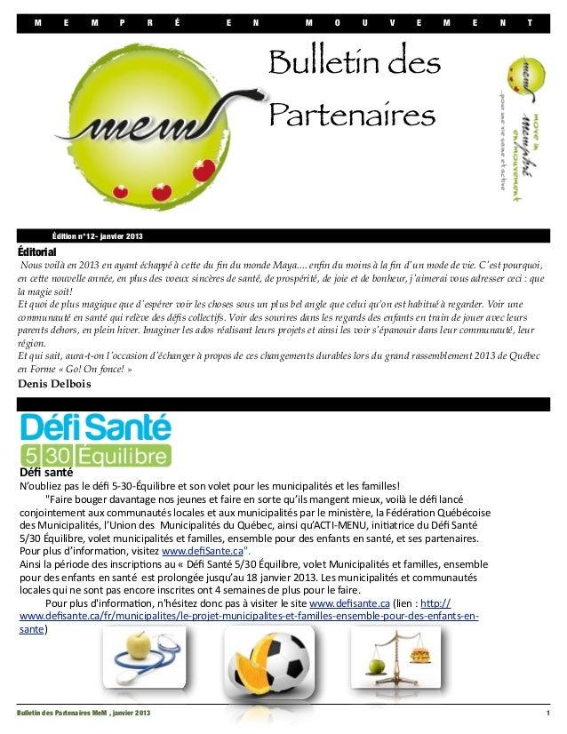 Bulletin mem janvier 2013