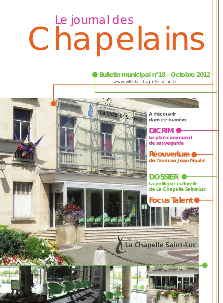 La chapelle saint luc bulletin municipal n 18 for Piscine la chapelle st luc