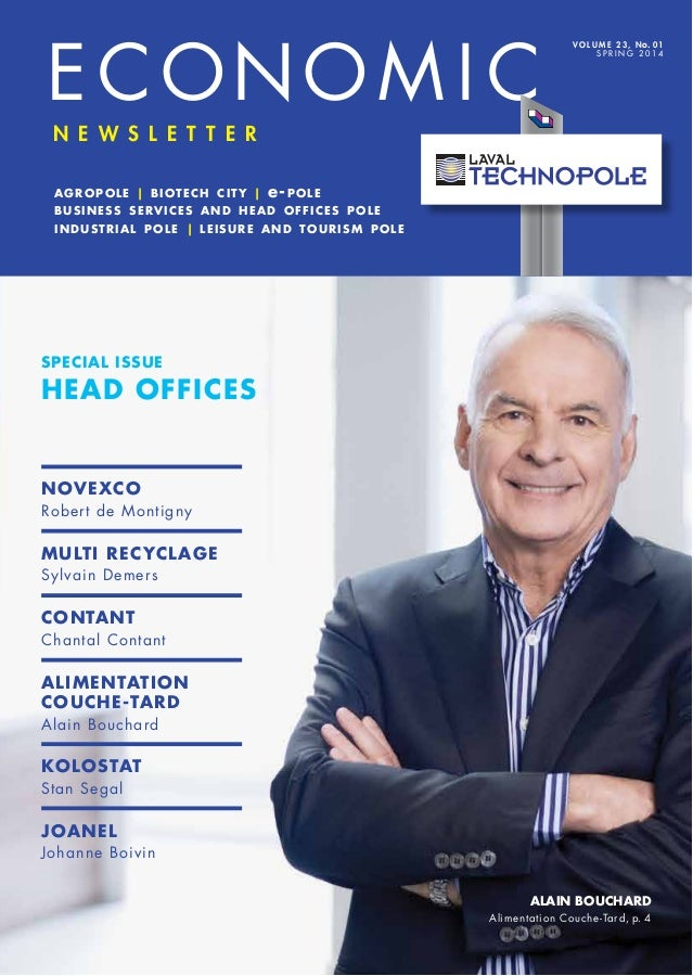 Laval technopole Economic Newsletter - Spring 2014