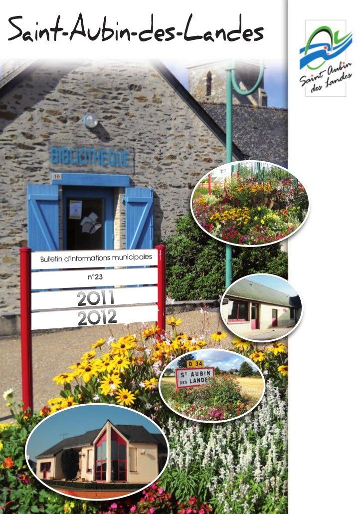 Saint-Aubin-des-Landes  Bulletin d'informations municipales                n°23