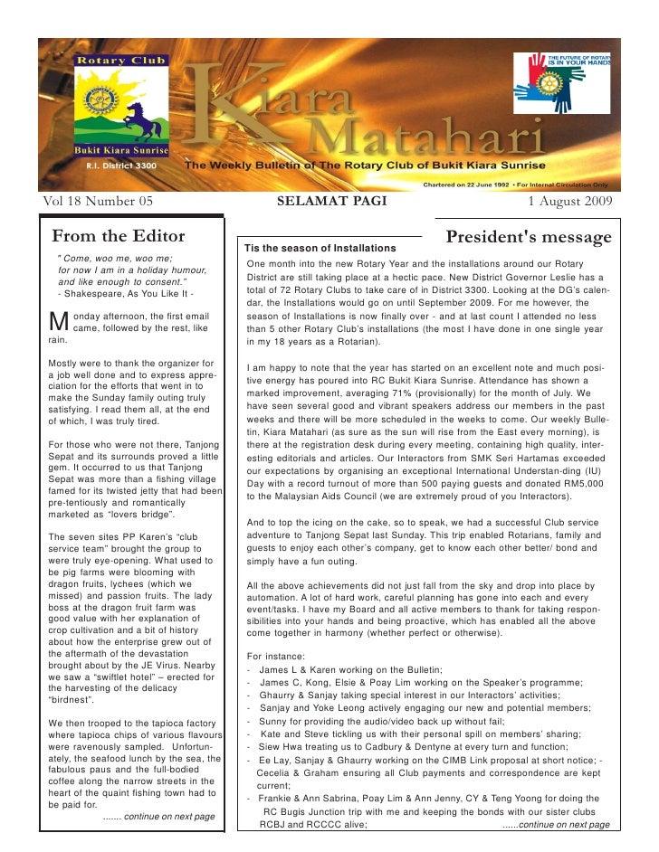 Vol 18 Number 05                                     SELAMAT PAGI                                              1 August 20...
