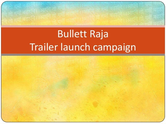 Bullett Raja Trailer launch campaign