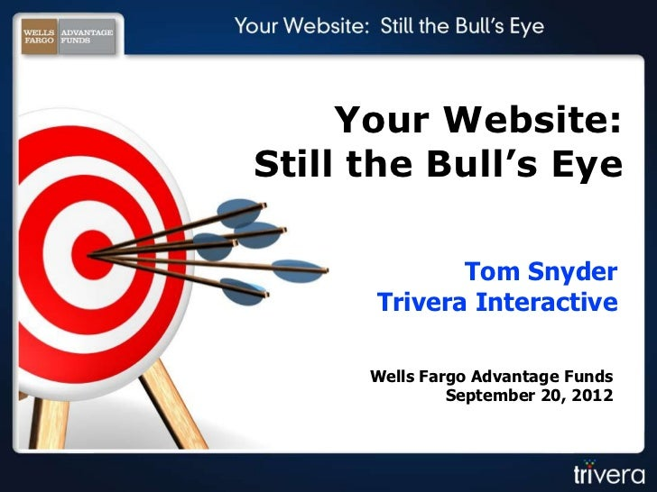 Your Website:Still the Bull's Eye             Tom Snyder      Trivera Interactive      Wells Fargo Advantage Funds        ...