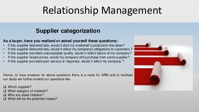 Buyer supplier relationship power master thesis