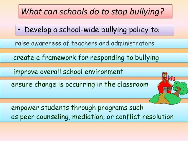 thesis statements on bullying in schools How to prevent bullying, essay a thesis statement describes a brief overview of the author's every parent needs to take action to end bullying in schools.
