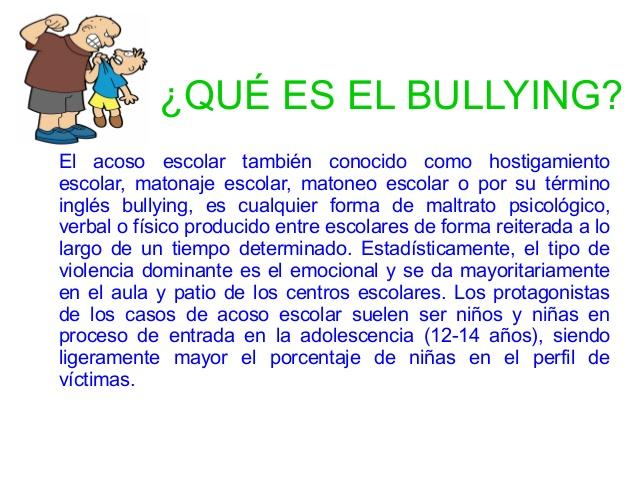 Bullying o acoso escolar - El bulin de horcajuelo ...