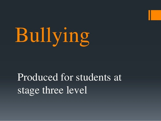 five paragraph essay about bullying