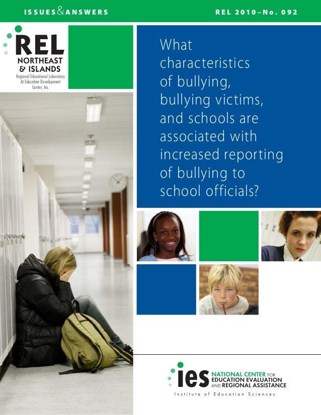 Bullying characteristics
