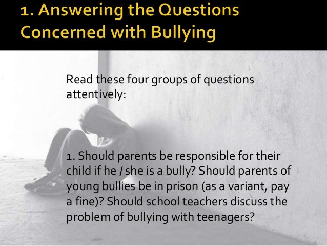 What are 3 reasons bullying should be stopped? ( writing an essay)?