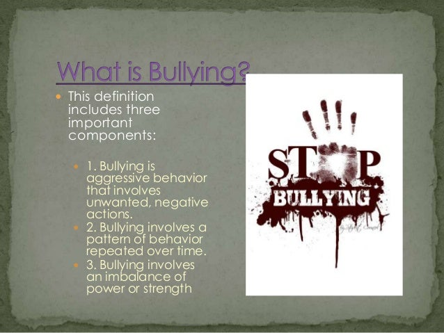bullying unwanted aggressive behavior involving a Bullying is repeated unwanted, aggressive behavior involving an actual or felt power imbalance including any individual or group of individuals those bullied and those who bully others may have negative long term effects.