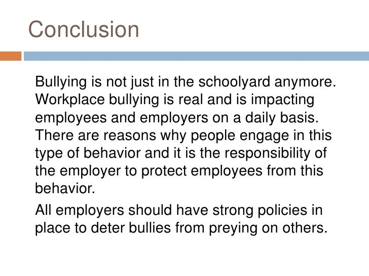 conclusion of an essay about bullying