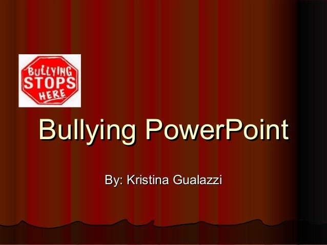 Bullying powerpoint