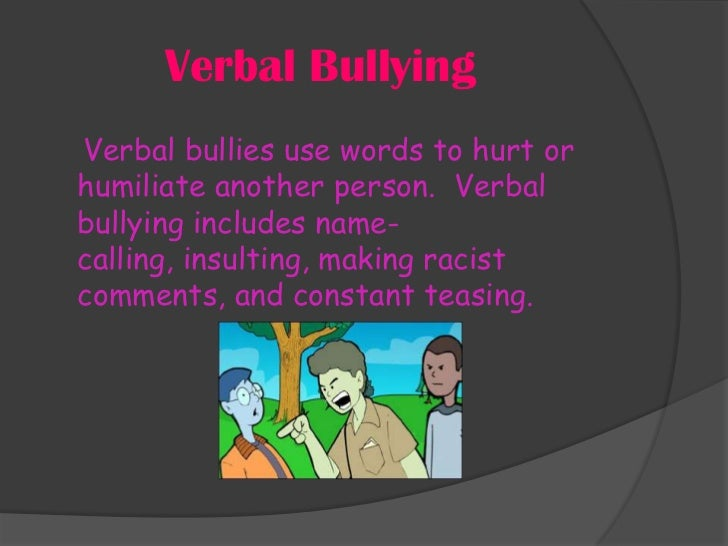 Anti Bullying Presentation 1
