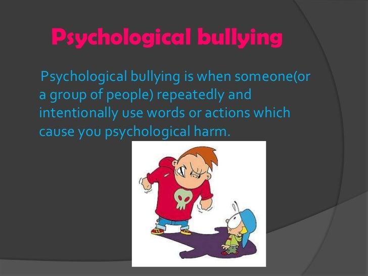 Bullying Presentation 1 on people getting hurt