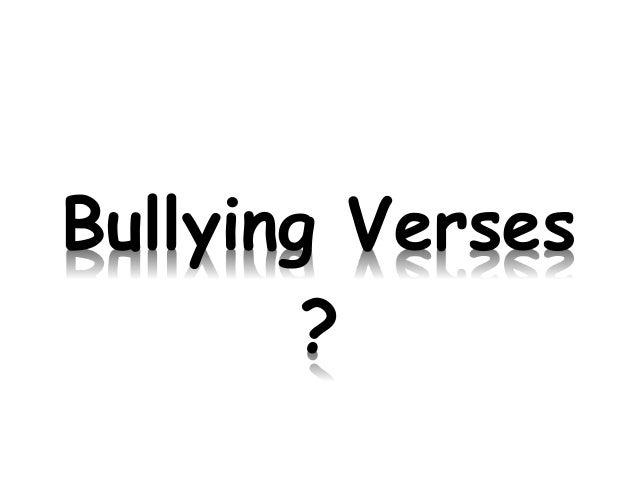 Bullying Verses ?