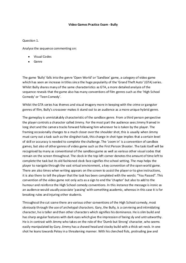 Essay about bullying against it