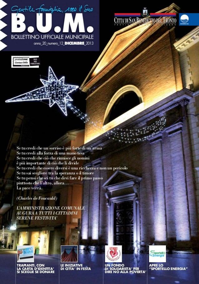 Bollettino Ufficiale Municipale di Dicembre 2013