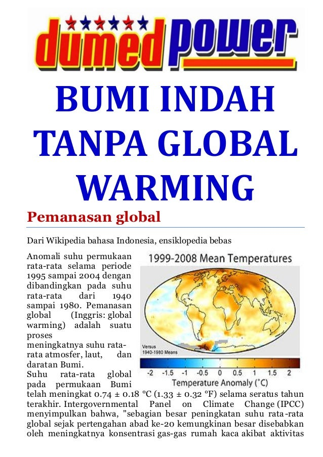 Bumi Indah Tanpa Global Warming