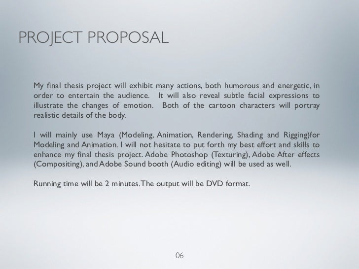 Proposal of thesis