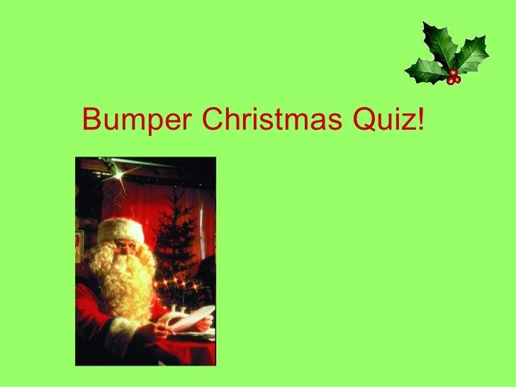 Bumper christmas quiz![1]